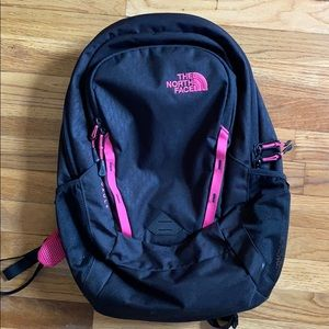 The North Face Pink and Black Backpack